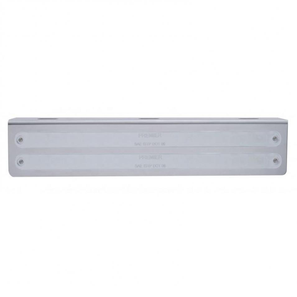 "Not Lit 12 3/4"" Stainless Light Bracket w/ Two 14 LED 12"" Light Bars"