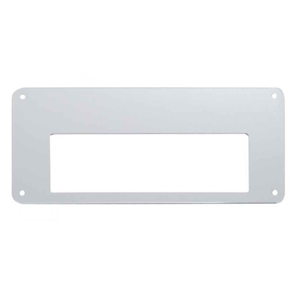 "Stainless Steel 4""x 5"" Permit Sticker Plate With Adhesive"