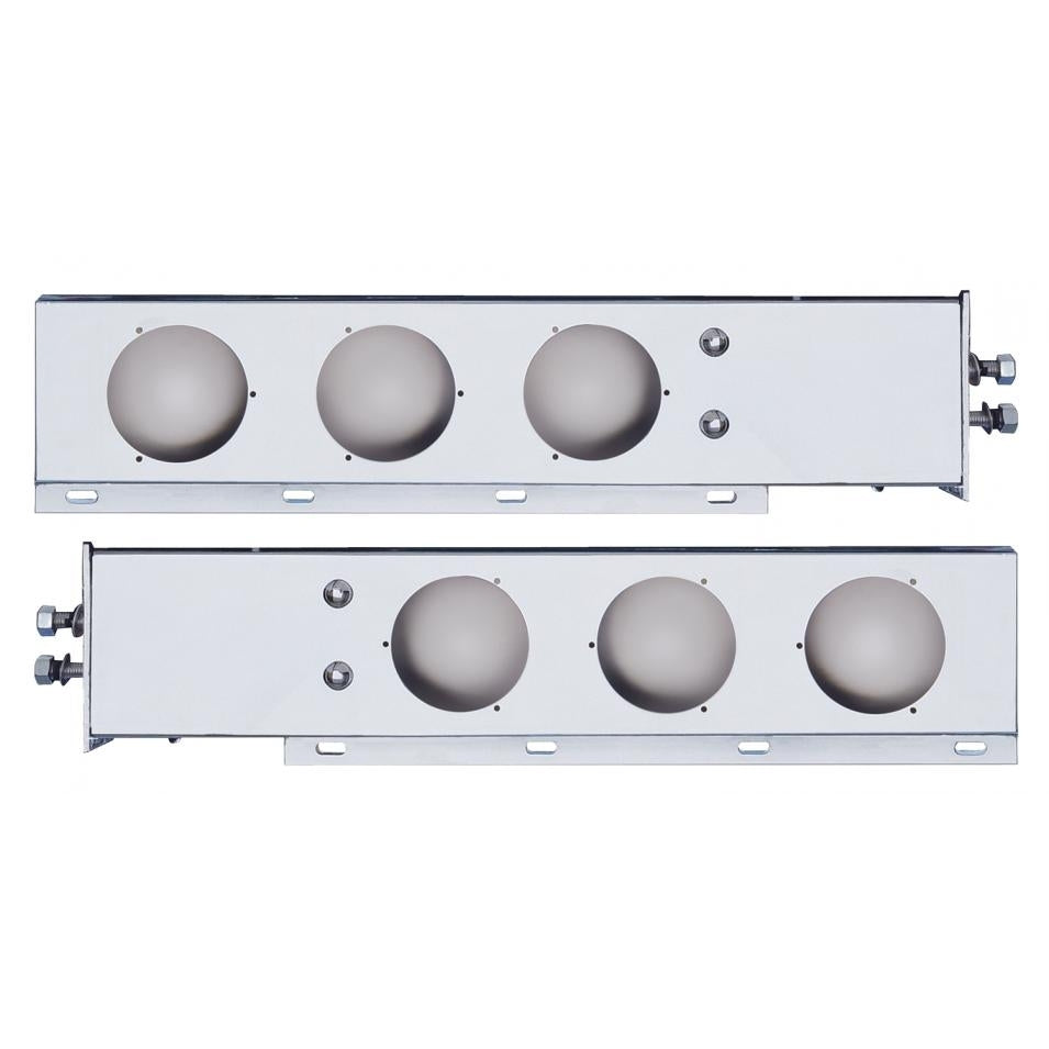 "2"" Bolt Pattern Stainless Spring Loaded Light Bar w/ Six 4"" Light Cutouts"