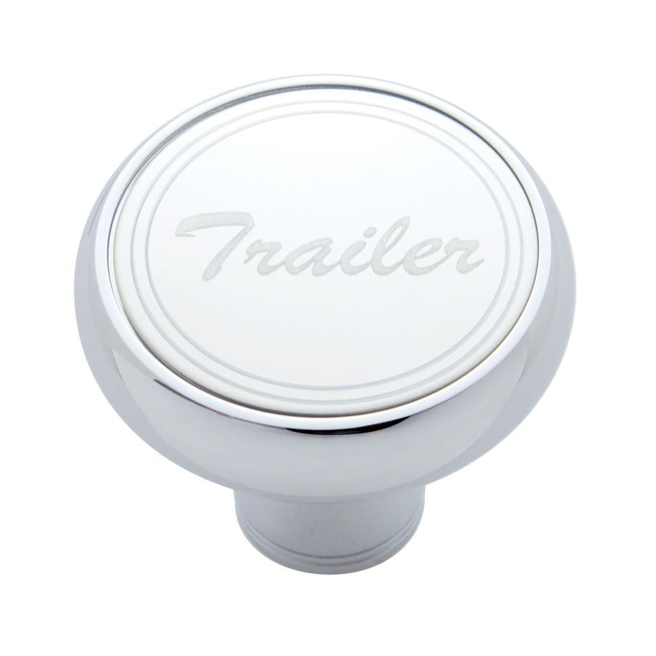 """Trailer"" Deluxe Air Valve Knob - Stainless Plaque"