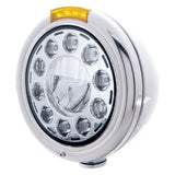 "Stainless ""Classic"" Headlight & Dual Function Turn Signals"