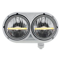Peterbilt 359 Stainless Dual Headlights