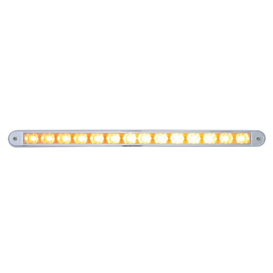 "14 LED 12"" Auxiliary Warning Light Bar w/ Bezel"