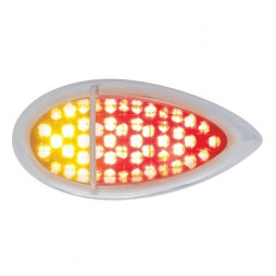 "51 LED Duo ""Baby Zephyr"" Auxiliary/Utility Light w/ Bezel- Red+Amber LED/Clear Lens"