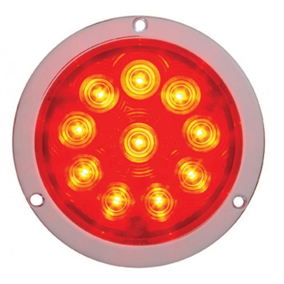 "10 LED 4"" Deep Dish Stop, Turn & Tail Light"