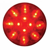 "12 LED 4"" Stop, Turn & Tail Light - Red LED/Red Lens"