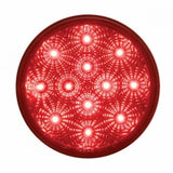 "12 LED 4"" Reflector Stop, Turn & Tail Light - Red LED/Red Lens"