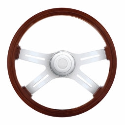 "18"" 4 Spoke Steering Wheel w/ Hub - Freightliner 1989-July 2006"