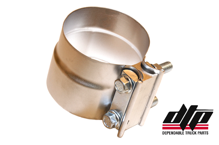 Exhaust Clamp, Preformed Aluminized 3.5""