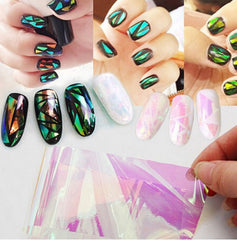 Broken Glass Nail Art