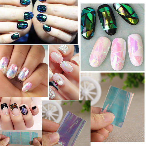 Different Colors/set,  Stencil Decal Nail Art.