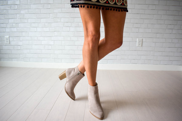Women's taupe high ankle boot