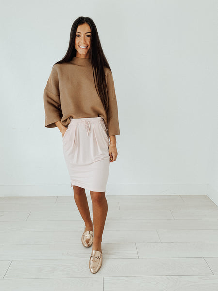 Collins Lounge Skirt in Soft Pink
