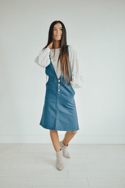 Mason Denim Jumper Dress