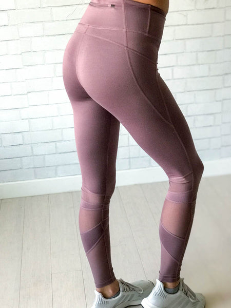 We Mesh Mauve Sport Tight