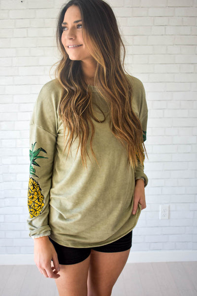 Women's Pineapple Sleeve Sweatshirt
