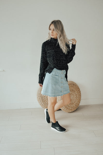 Salt and Pepper Freckled Sweater