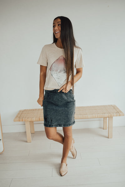 Gunmetal Skirt