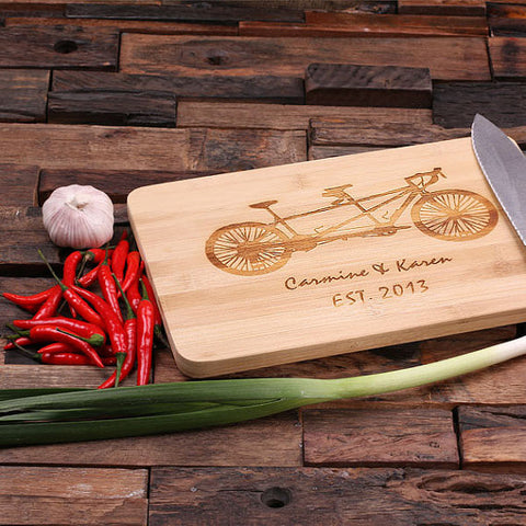 Personalized Bamboo Cutting Board – Family Seal, Monogram, Namesake