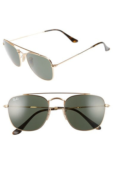 Ray-Ban 54mm Gold/Green  Square Sunglasses