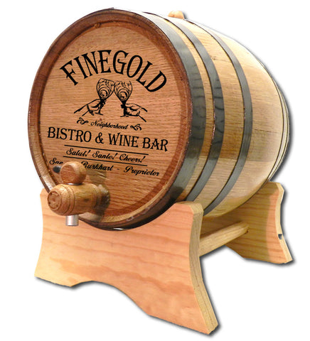 Finegold Wine Bar Personalized American White Oak Barrel