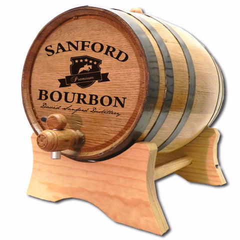 Bourbon Crest Personalized American White Oak Barrel