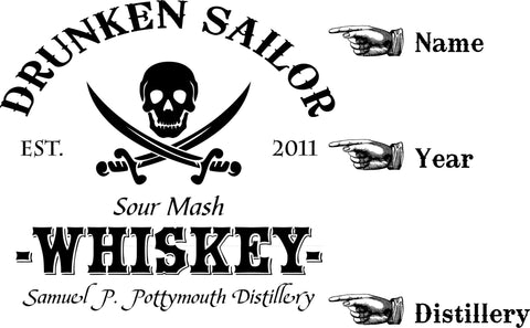 Drunken Sailor Personalized American White Oak Barrel