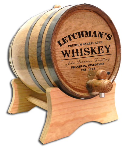 Whiskey Distillery Personalized American White Oak Barrel