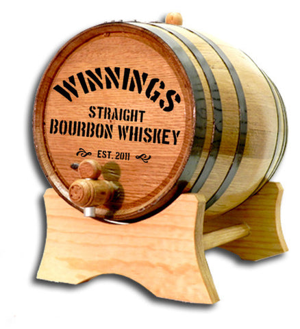 Bourbon Personalized American White Oak Barrel