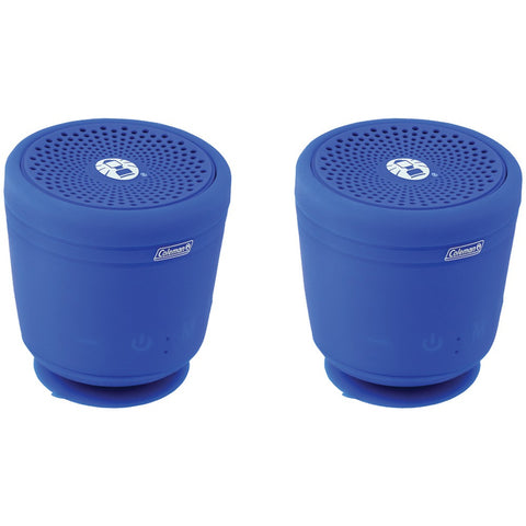 Coleman Aktiv Sounds Tws Waterproof Bluetooth Speaker (blue; 2 Pk)