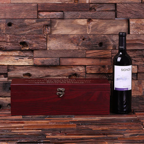Personalized 5pc Wine Accessories Tool Kit on Cherry Wood