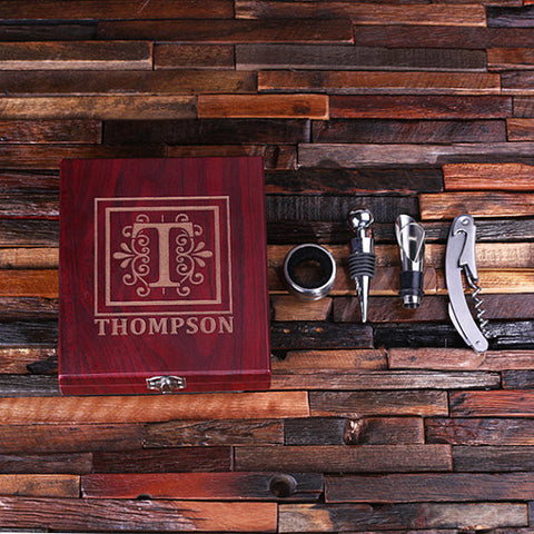 Personalized 5 pc Wine Accessory Toolkit