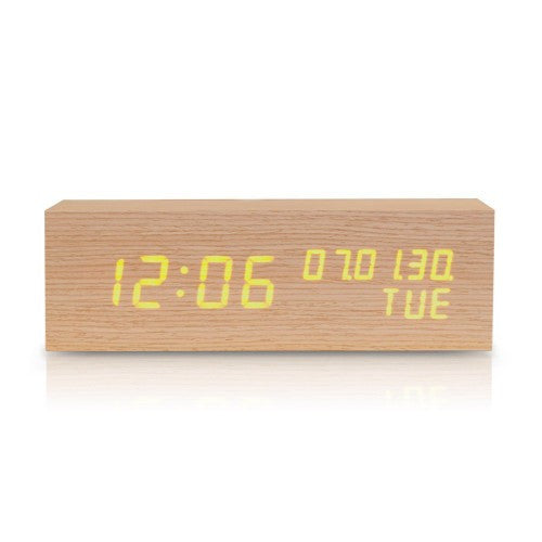 Wooden LED Digital Alarm Clock