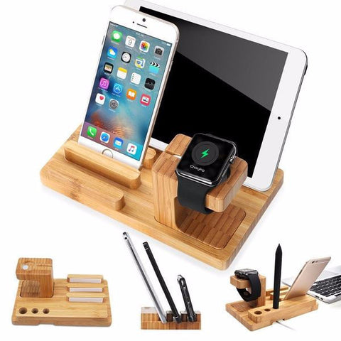 4 in 1 Stand Charging Dock Holder for iPhone iPad Apple Watch