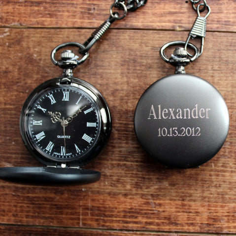 Personalized Classic Midnight Pocket Watch