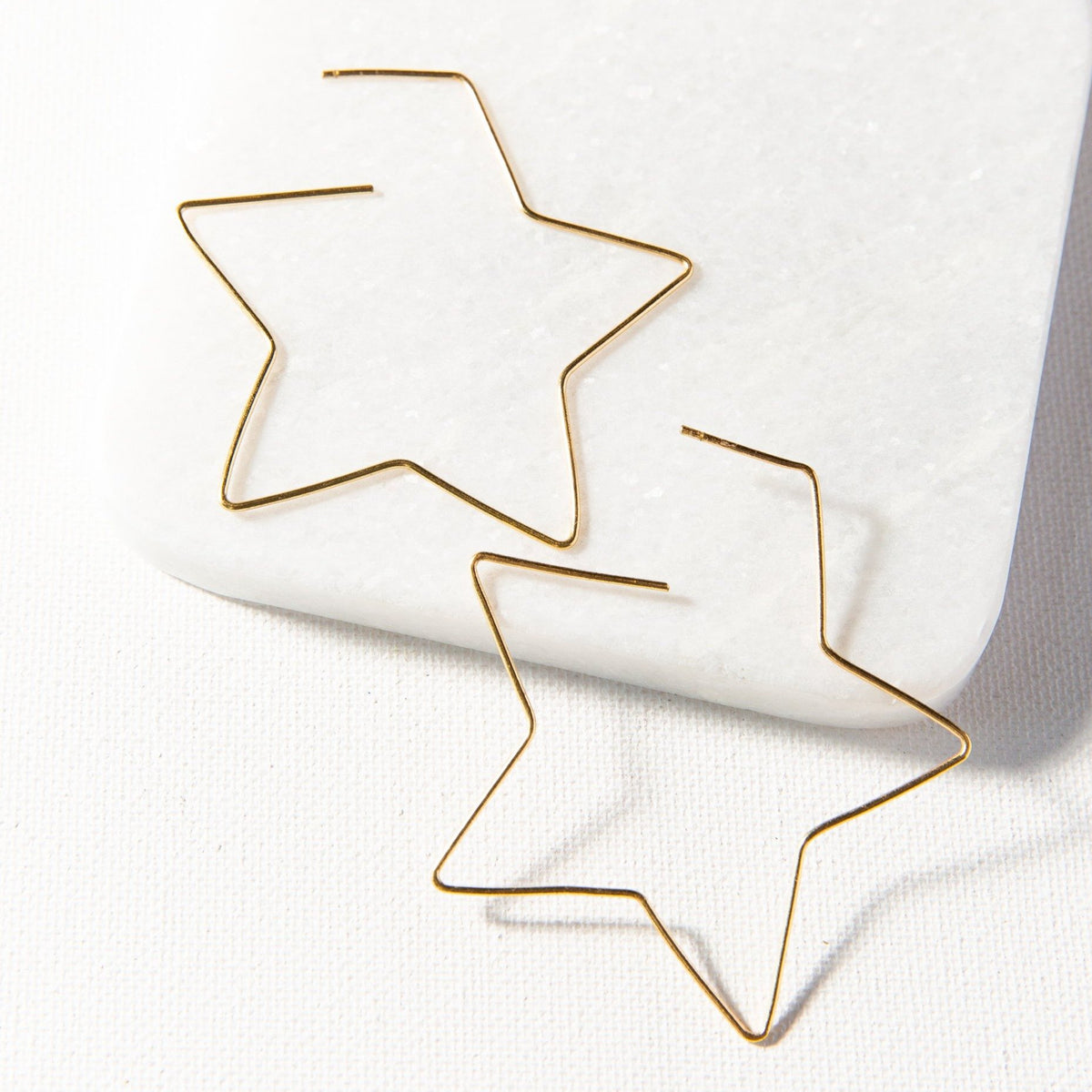 Ink + Alloy Star Wire Earring