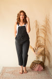 Z Supply Cinched Waist Overalls in Black