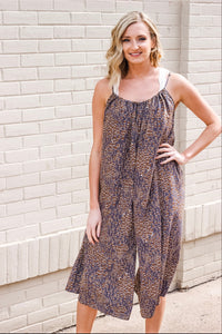 Charcoal Printed Jumpsuit