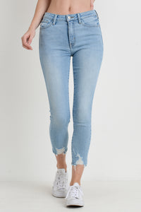 Just Black Denim Skinny Jean with Hem Bite
