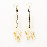 Ink + Alloy Single Stripe Ivory Fringe Earrings
