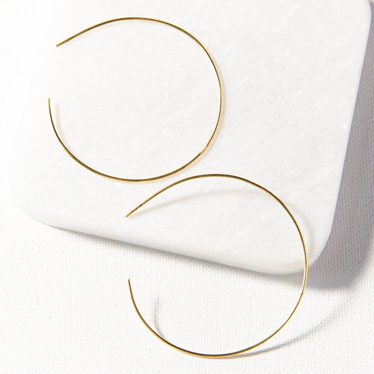 Ink + Alloy Circle Wire Hoop Earring