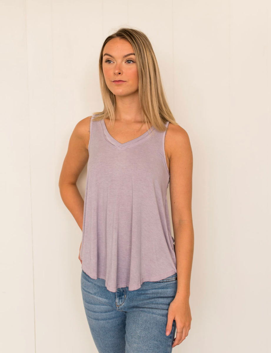 Z Supply Vagabond Tank Top in Misty Lilac