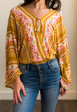 Free People For You Gold Combo Bodysuit
