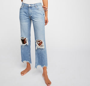 KUT Connie Ankle Skinny with Frey Hem