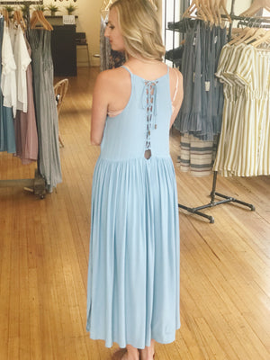 High Neck Ankle Maxi Dress