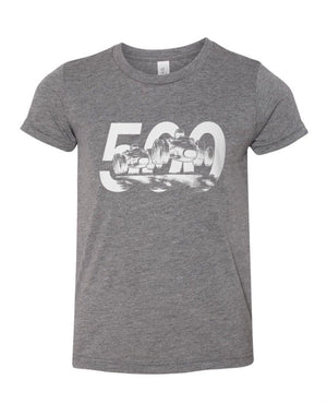 Gray Indy 500 Kids' Tee
