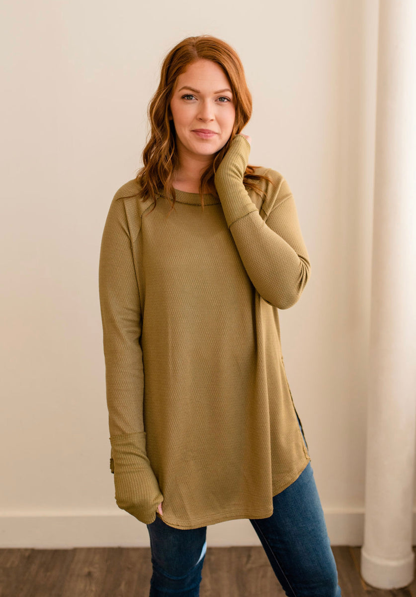 Free People Snowy Thermal (sunstone)