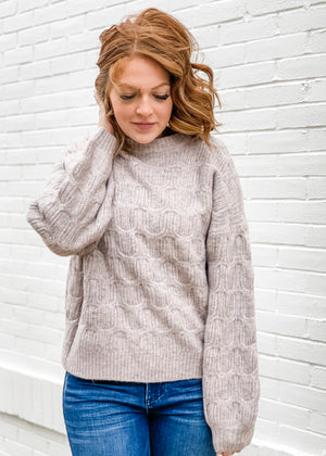 Jacquard Detail Pullover Sweater