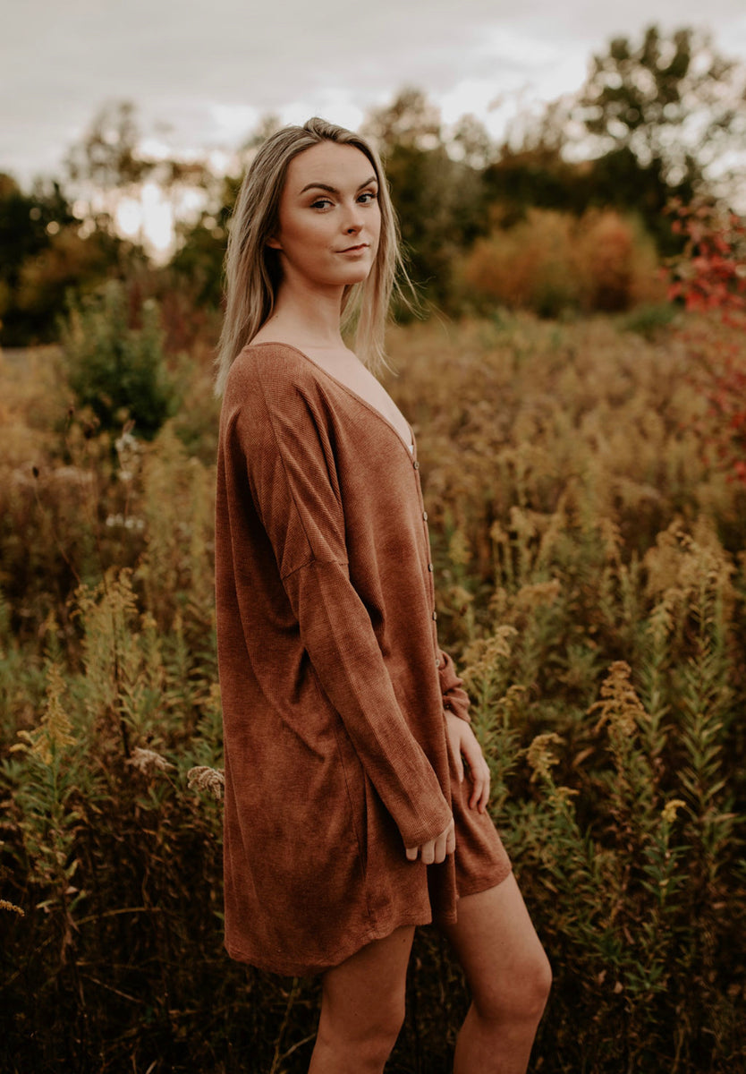 Z Supply Grove Thermal Dress in Whiskey