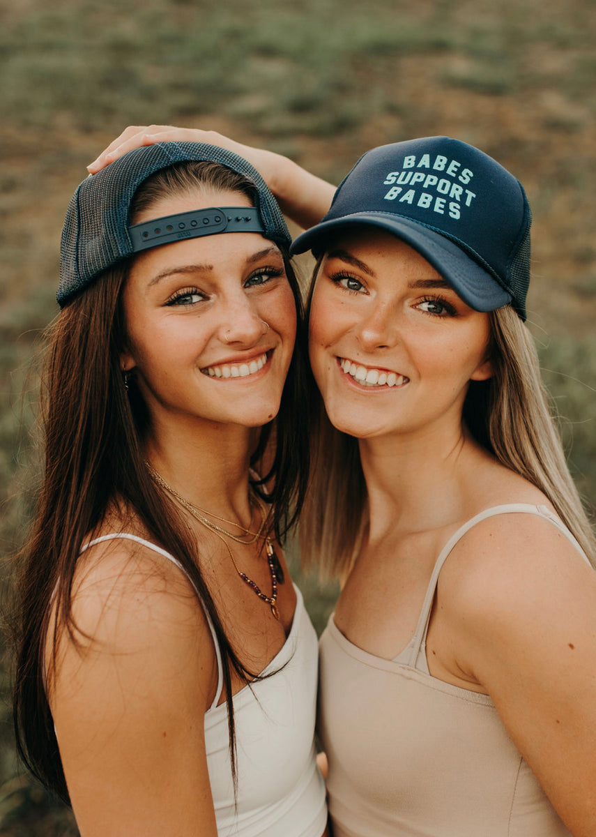 Friday + Saturday Babes Support Babes Trucker Hat